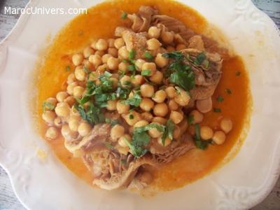 Douara de mouton aux pois chiches  Cuisine Marocaine