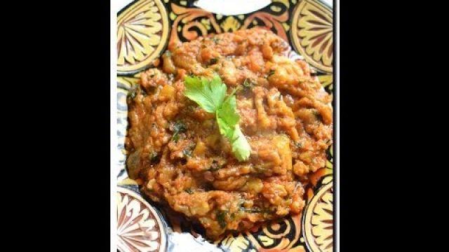 zaalouk d'aubergine grillée Marocaine