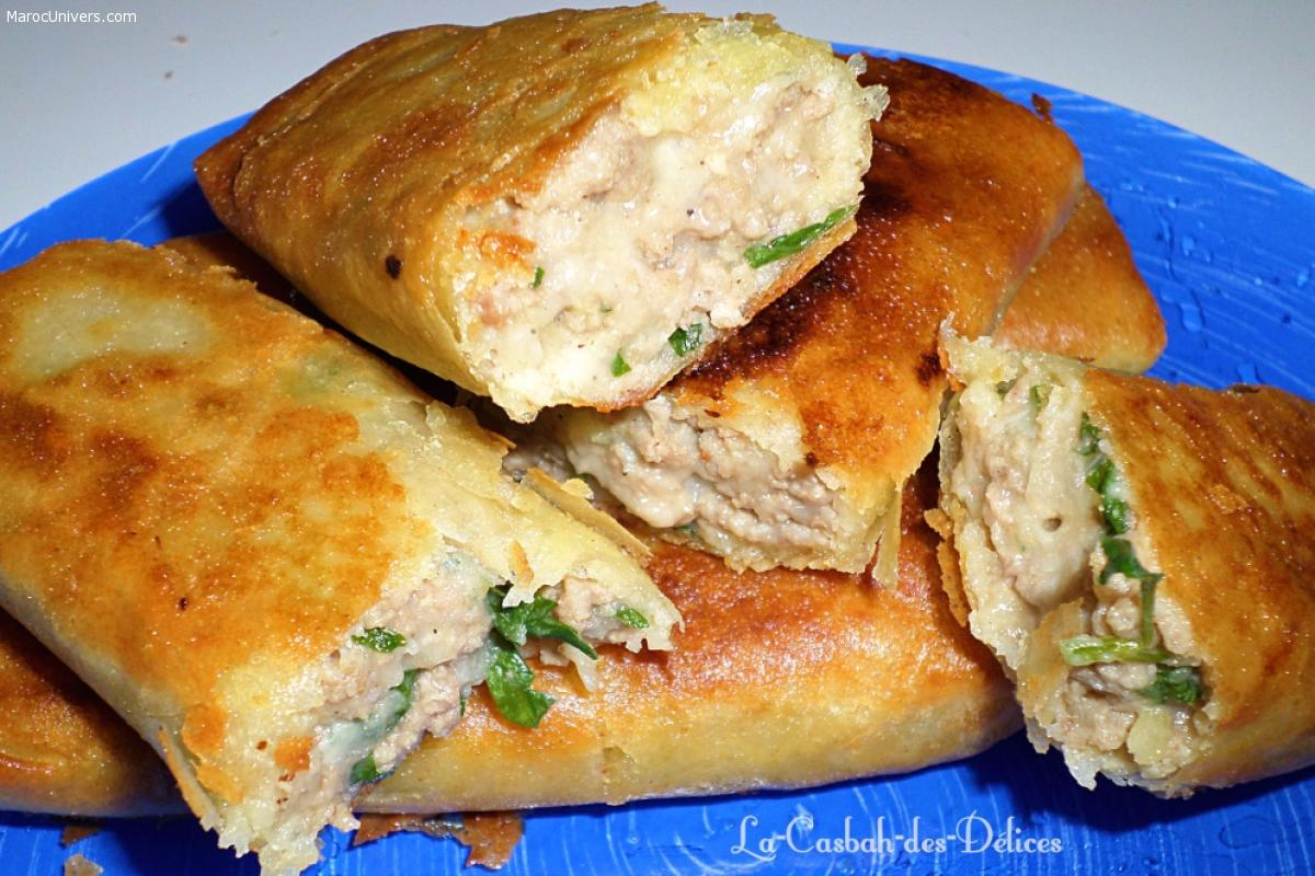 Bourek à la viande hachée et pommes de terre