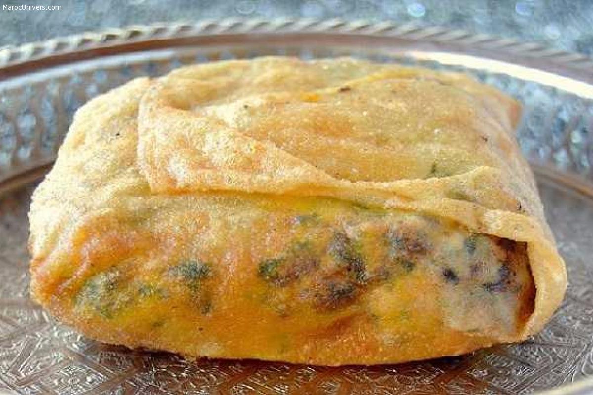 Bourek aux pommes de terre et viande hachée