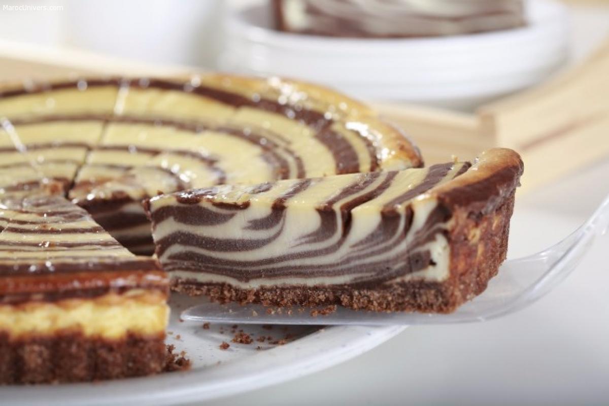 CHEESECAKE À DEUX CHOCOLATS (GÂTEAU AU FROMAGE)