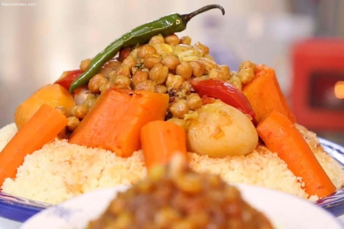 Couscous marocain à l'agneau et ses légumes