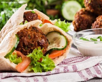 falafels au riz à la sauce tahini et citron