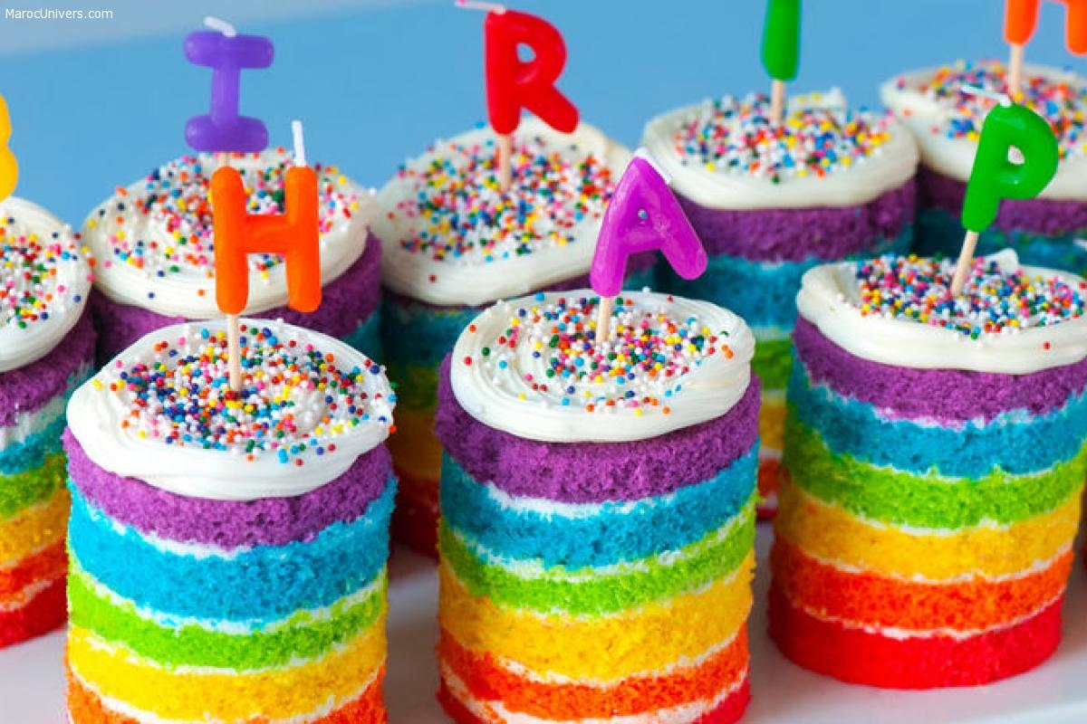GÂTEAU ARC-EN-CIEL - RAINBOW CAKE