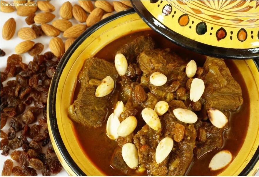 Mrouzia - Tajine d'agneau aux raisins secs, amandes et miel