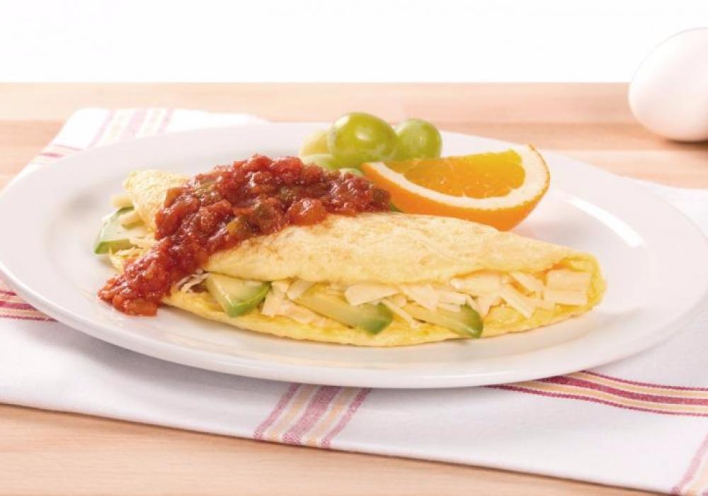 Omelette style rancheros