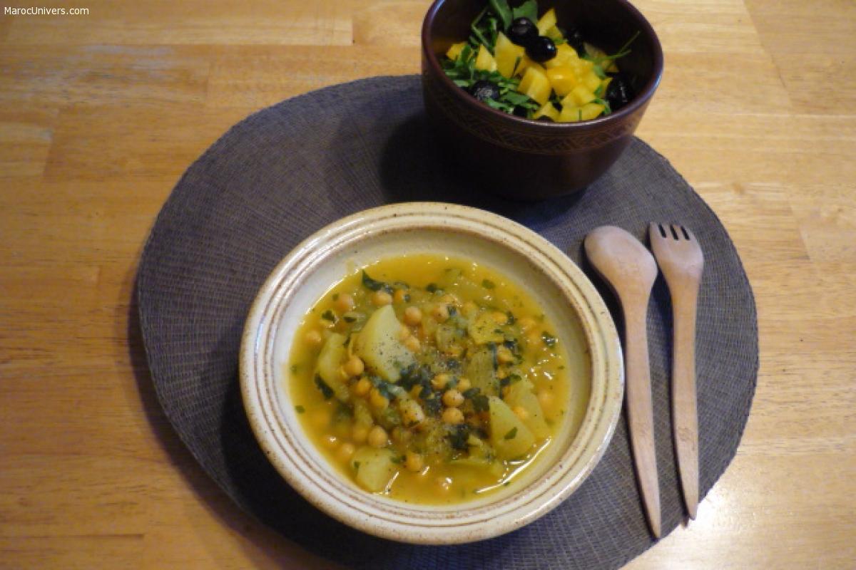 Ragoût de pois chiches et navets (assiette végétale)