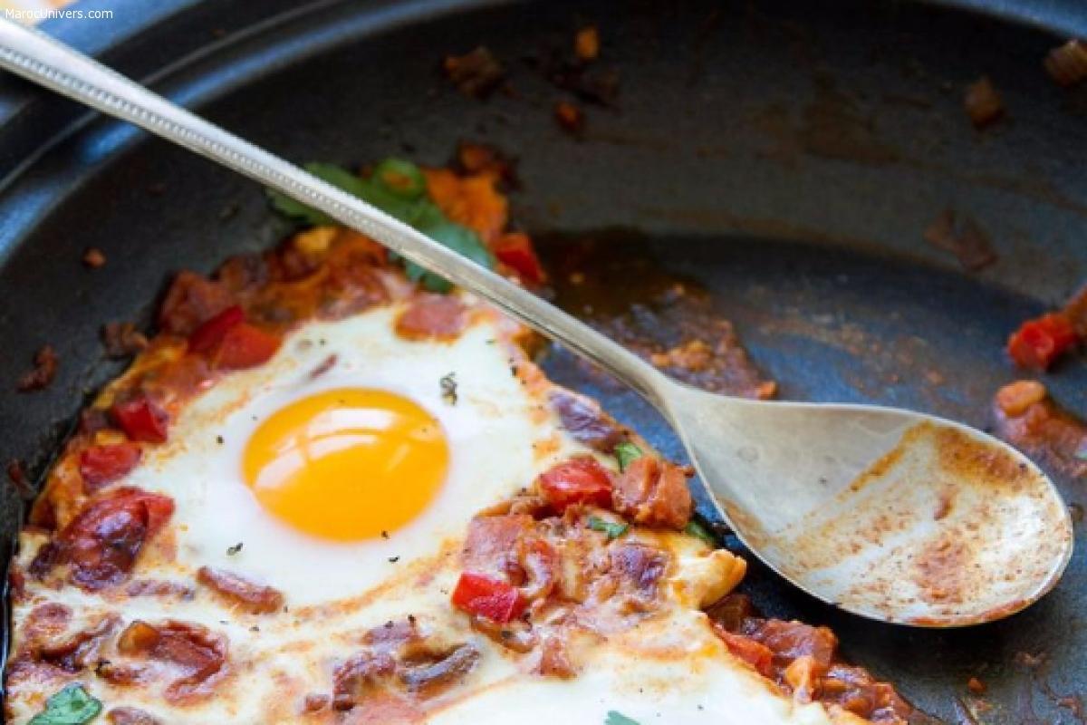 Recette d'une omelette marocaine