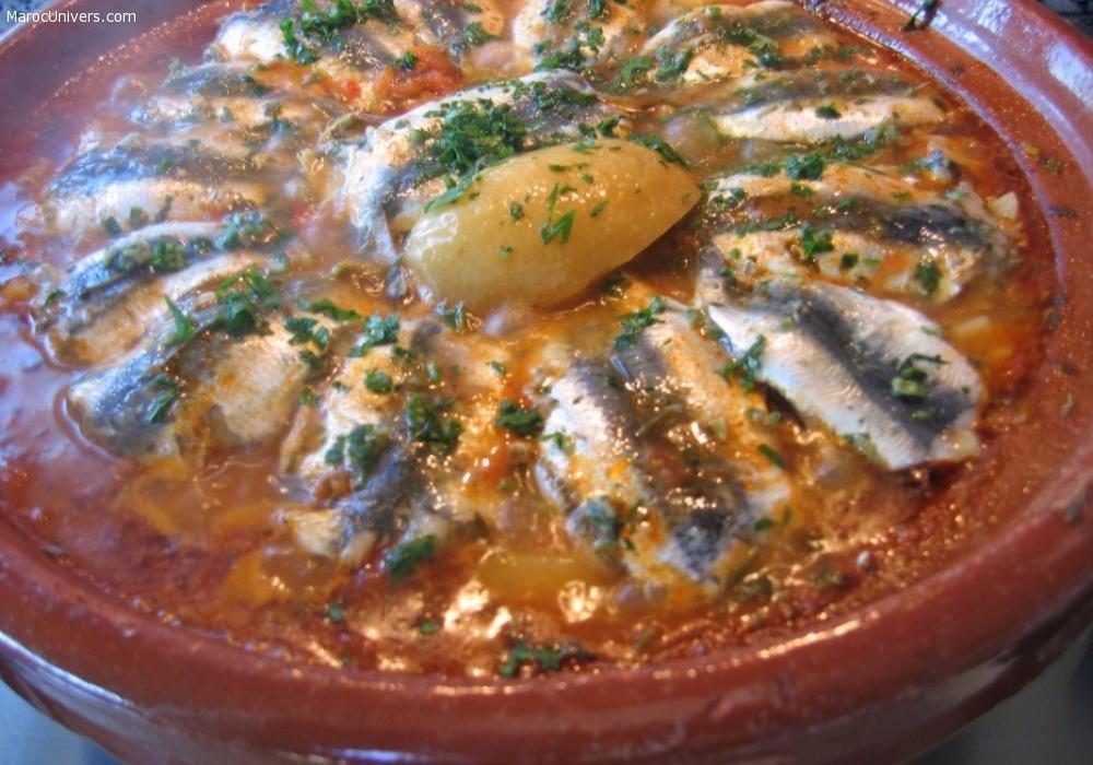 Recette Tajine de sardines à la chermoula