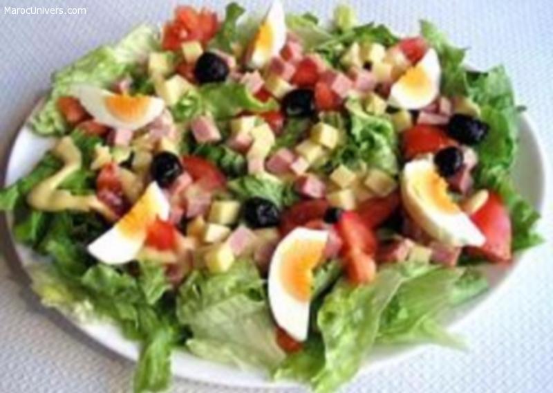 Salade fraiche d'été au basilic