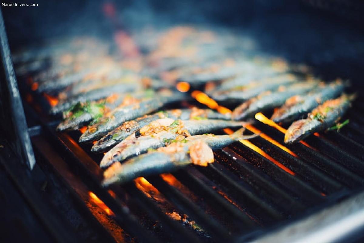 Sardines à la charmoula grillées sur charbon