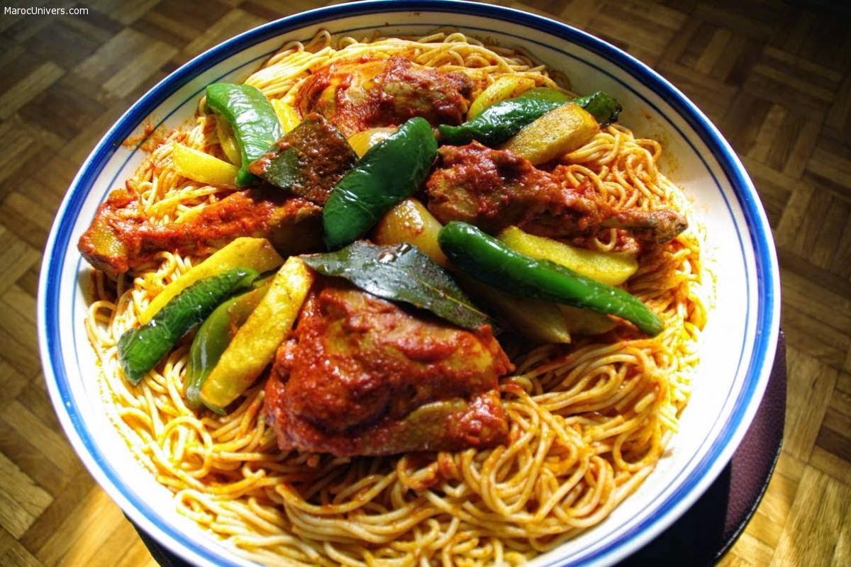 Spagetti a la Tunisienne - Makrouna bel Sauce