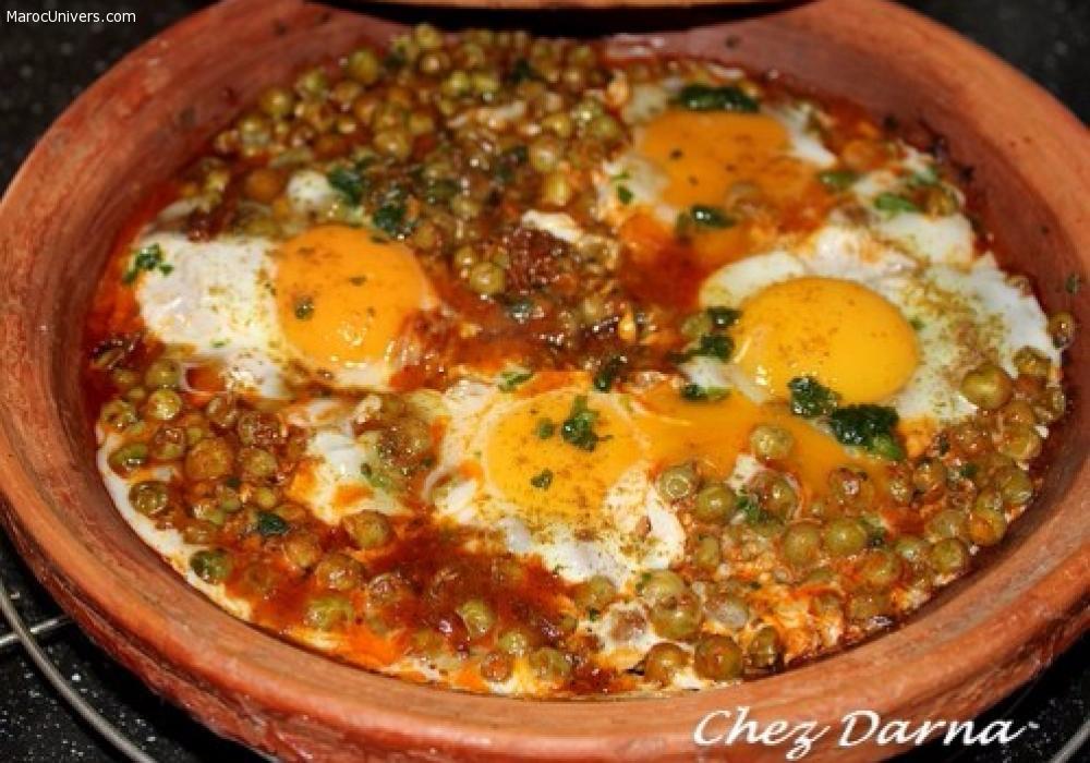 Tajine de petits pois aux ufs maroc cuisine et for Petit pois cuisine