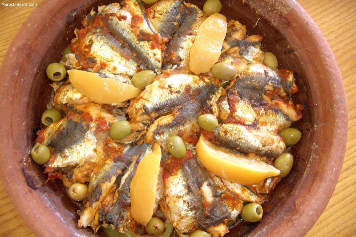 Tajine de sardines et pomme de terre