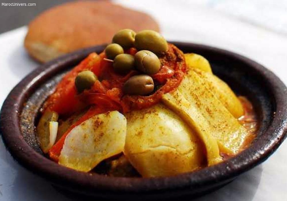 Tajine de veau à la pomme de terre et olives