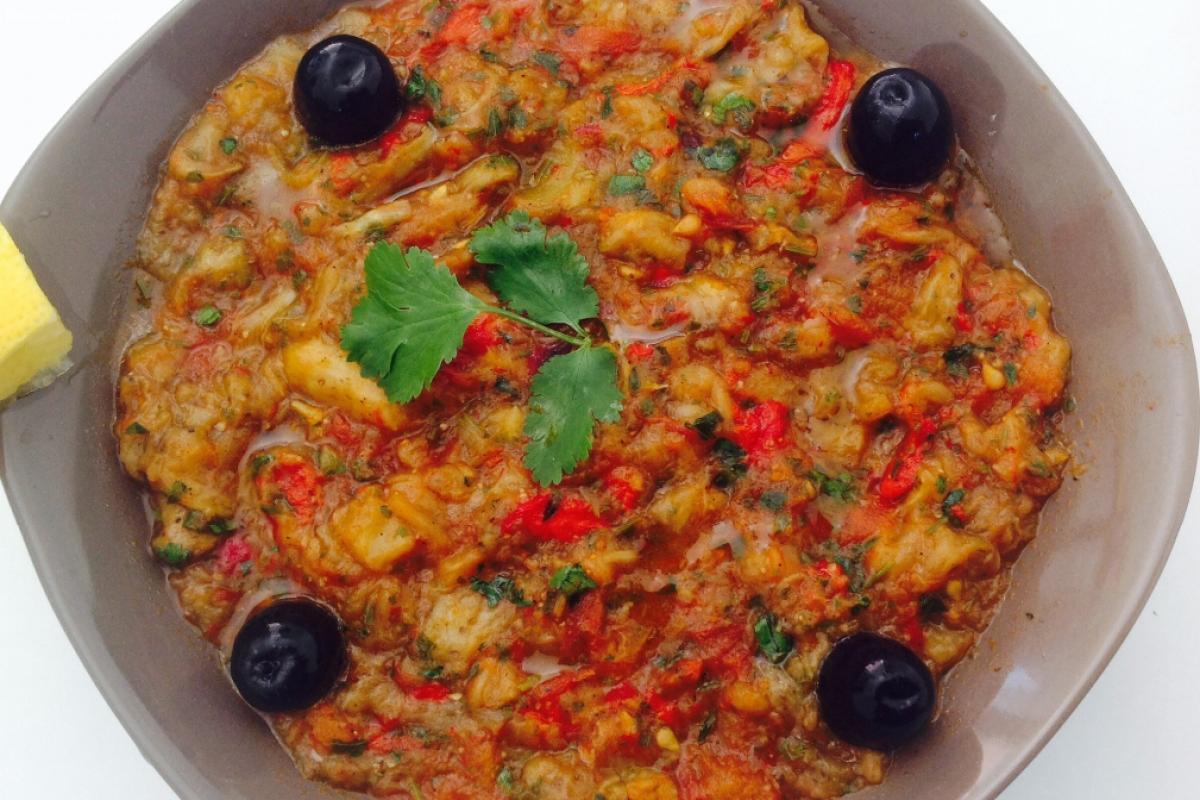 Zaâlouk (Salade d'aubergine)