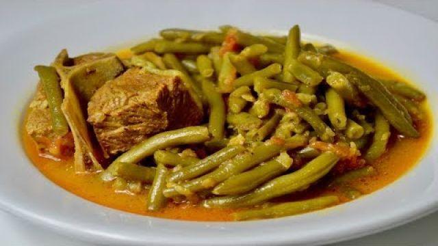 Tajine haricot vert-viande/ طريقة تحضير طاجين اللوبيا الخضراء باللحم لذيذ
