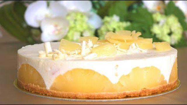 cheesecake ananas وصفة صيفية سهلة تشيز كايك بدون فرن و بمذاق خيالي راائع