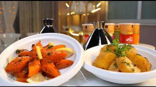 Salade de patates douces à la Chermoula & salade de carotte à la Chermoula