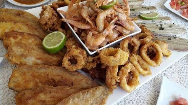أشنو طيبتي اليوم :اقتراح يوم السبت ( سمك مشكل مقلي بطريقة المطاعم + سلطة + صلصلة + تحلية )