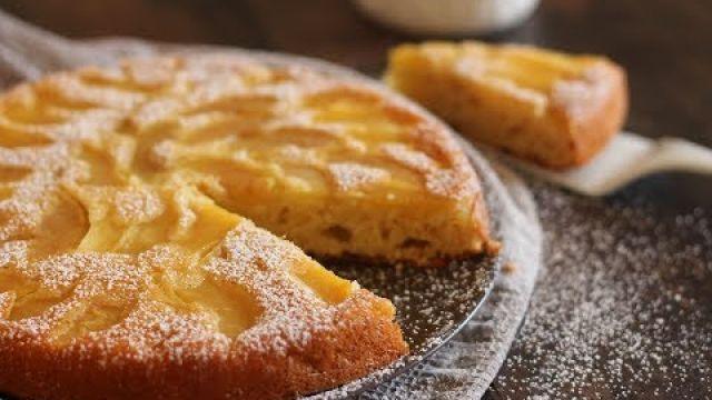 Gâteau Renversé au yaourt et pommes - كيك الزبادي المقلوب بالتفاح