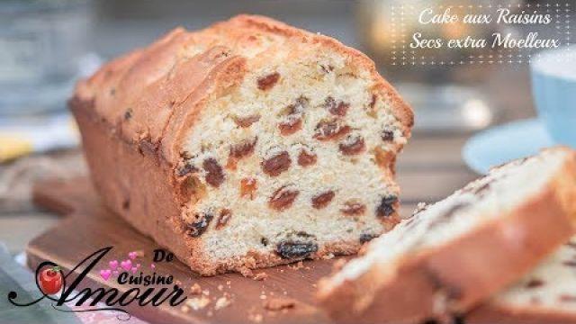 cake aux raisins extra moelleux pour le goûter