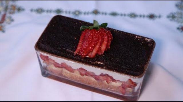 Tiramisu express aux fraises   شميشة : تيراميسو بالفراولة في دقائق