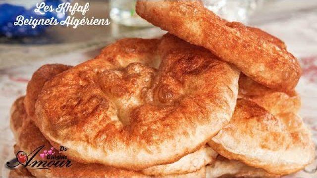les khfaf, lekhfef, sfenj ou les beignets algériens légers étapes par étapes, pétrissage à la main