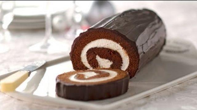 Gâteau roulé au chocolat