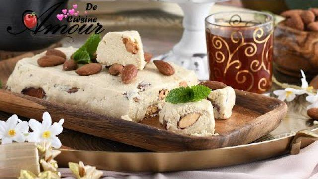 halva : chamia sans cuisson halwa turc, dessert facile de Ramadan