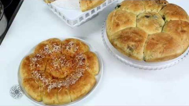 شميشة : خبز بالزيتون الأسود والثوم | خبز بالجبن والفلفل الأحمر