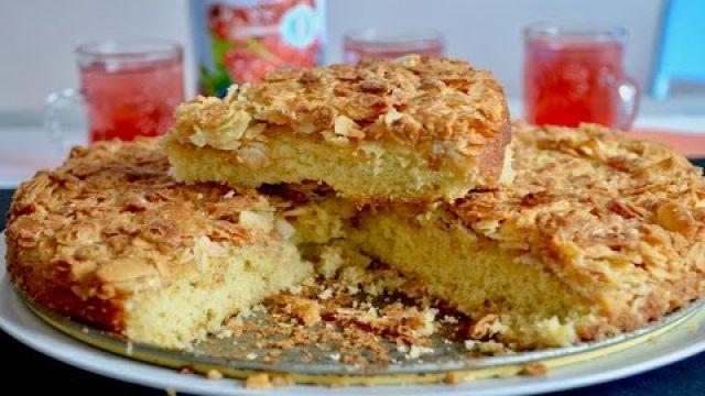 ?? Cake aux amandes/ كيكة اللوز رائعة ولذيذة بالصور أتحداكي تقاوميها ??