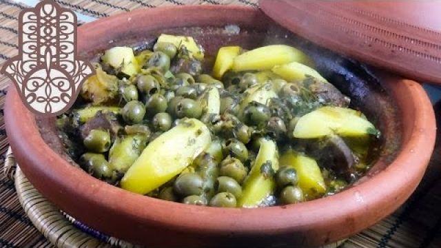 Tajine de veau aux pommes de terre et olives vertes