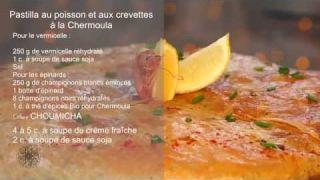 Recette: Pastilla au poisson et aux crevettes à la Chermoula (VF)