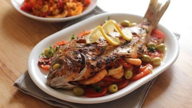 Délicieux poisson farci à la marocaine