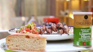 Kofta kebabs and Moroccan salad