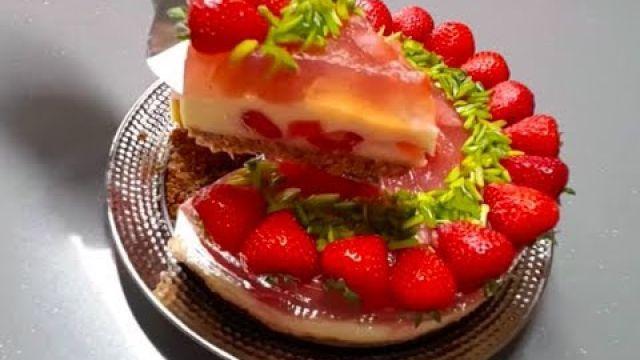 Gâteau à la fraise facile sans cuisson au four