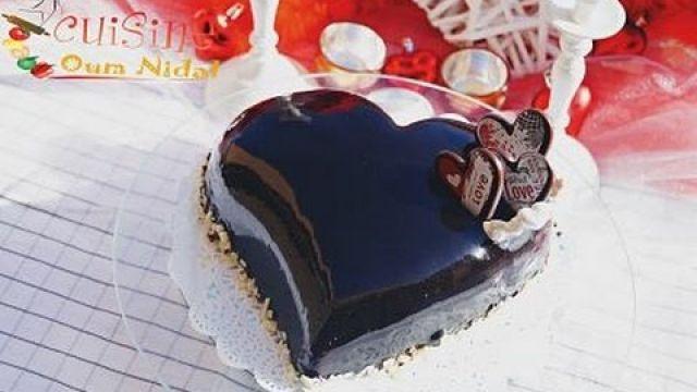 كاطو قلب (Coeur bombé) ب بفاروا و الشوكولا رائع جدا و بدون فرن