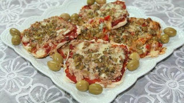 Mini Pizza au Thon avec Pain de Mie (Ramadan)