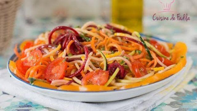 Salade de spirales de légumes