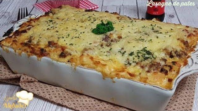 Idée repas facile et rapide lasagne de pates