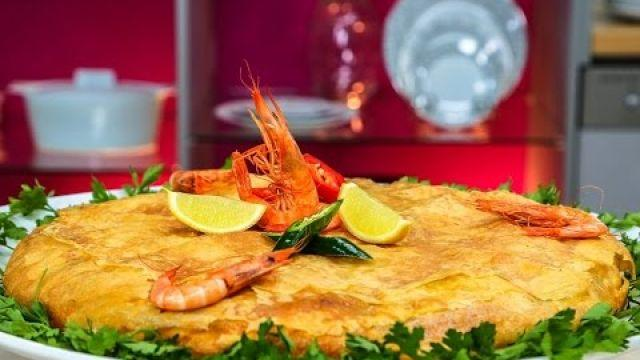 PASTILLA au poisson - Cuisine Marocaine |  بسطيلة بالسمك وفواكه البحر