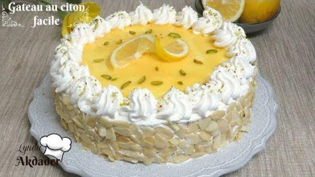 gâteau au citron facile par Lynda akdader