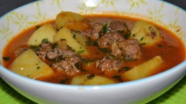 Chorba kefta-pomme de terre/شوربة الكفتة بالبطاطس