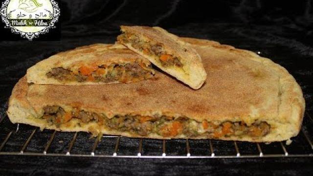 Pain surprise --- خبزة مفاجأة بدون فرن سريعة التحضير