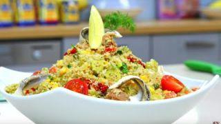 Salade de Couscous au thon (Taboulé) - Couscous salad with tuna