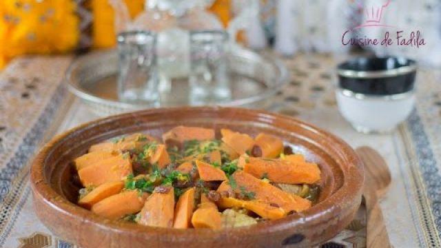 Tajine poulet patate douce et raisin sec طاجين الدجاج بالبطاطا الحلوة و الزبيب
