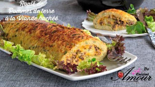 recette de roulé de pommes de terre à la viande hachée