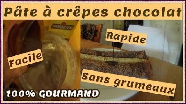 Pâte à crêpes au chocolat ultra facile